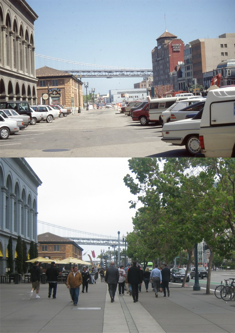 Saying goodbye to the Embarcadero Freeway – San Francisco Film Locations Then & Now